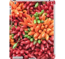 Colorful hot chili peppers background iPad Case/Skin