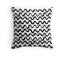 Inky waves Throw Pillow