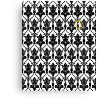 Sherlock smile wallpaper Canvas Print