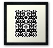 221b sherlock wallpaper Framed Print