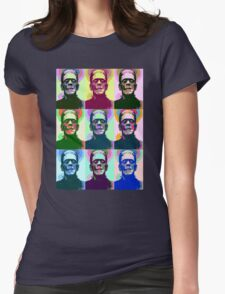 Frankenstein Pop Art Womens Fitted T-Shirt