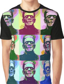 Frankenstein Pop Art Graphic T-Shirt