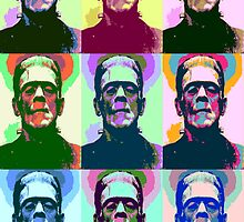Frankenstein Pop Art by Icarusismart