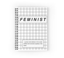 definition of feminist Spiral Notebook