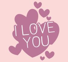 I love you hearts Kids Tee