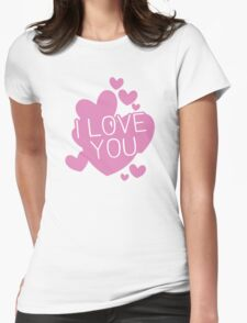 I love you hearts Womens Fitted T-Shirt