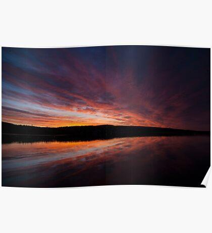 Beautiful dawn on Lake William Poster