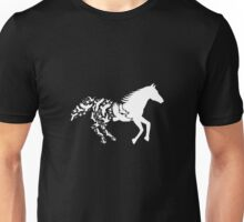 Horse with flying birds Unisex T-Shirt