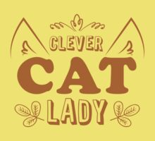 Clever cat lady One Piece - Short Sleeve