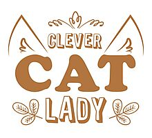 Clever cat lady Photographic Print