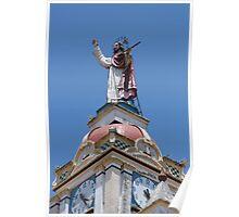 Sculpture on the Matriz Church Poster