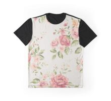 Vintage Peach Roses Graphic T-Shirt