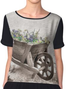 Pretty wheelbarrow Chiffon Top