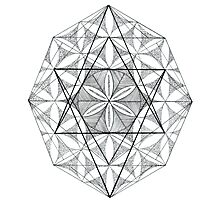 Flower of Life Sacred Geometry - Abstract Photographic Print