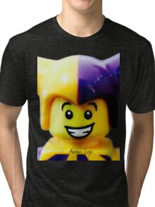 Lego Jester minifigure Tri-blend T-Shirt