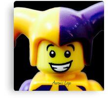 Lego Jester minifigure Canvas Print