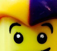 Lego Jester minifigure Sticker