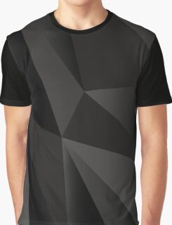 Origami Black abstract fractal texture Graphic T-Shirt