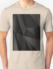 Origami Black abstract fractal texture Unisex T-Shirt