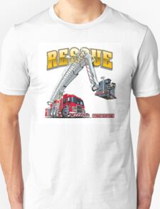 Cartoon Fire Truck Unisex T-Shirt