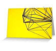 Minimalist Yellow Geometry - Photograph Greeting Card
