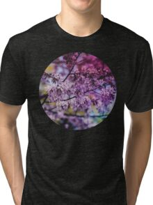 Purple Spring Blossoms - Photograph Tri-blend T-Shirt