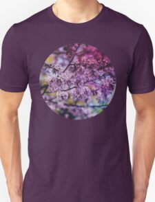 Purple Spring Blossoms - Photograph Unisex T-Shirt