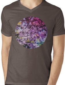 Purple Spring Blossoms - Photograph Mens V-Neck T-Shirt
