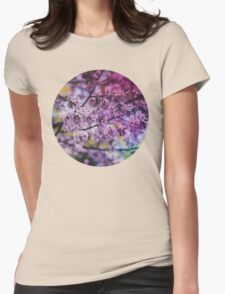 Purple Spring Blossoms - Photograph Womens Fitted T-Shirt