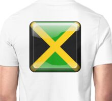 JAMAICA, JAMAICAN, Button, Jamaican Flag, Flag of Jamaica, Caribbean, Island, Pure & Simple Unisex T-Shirt