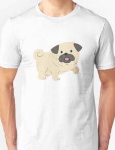 Cartoon Pug Dog T-Shirt