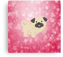 Cartoon Pug Dog Canvas Print