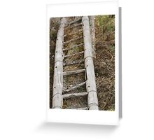 Wooden Bamboo Ladder Greeting Card