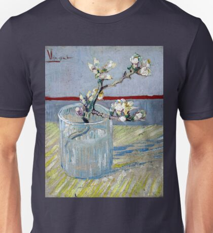 Vincent van Gogh Spring Flowering Almond in a Glass Unisex T-Shirt