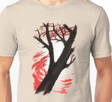 Dark Tree Red Clouds - V01 Unisex T-Shirt
