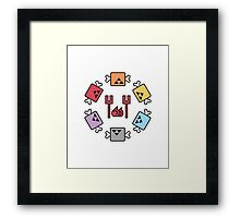 Monster Hunter Meat Selection Framed Print