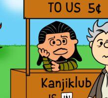 Tell That to Kanjiklub Charlie Brown Sticker