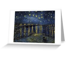 Vincent van Gogh Starry Night over the Rhone Greeting Card