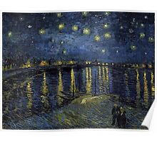 Vincent van Gogh Starry Night over the Rhone Poster