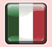 ITALY, ITALIAN, Italian Flag, Button, Flag of Italy, 'Bandiera d'Italia', Pure & simple One Piece - Long Sleeve