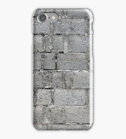Gray Concrete Wall iPhone Case/Skin