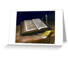 Vincent van Gogh Still Life with Bible Greeting Card