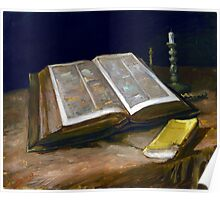 Vincent van Gogh Still Life with Bible Poster