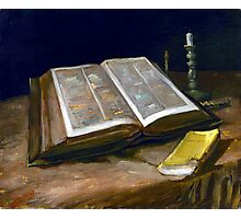 Vincent van Gogh Still Life with Bible Photographic Print