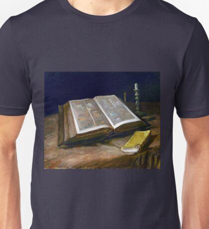 Vincent van Gogh Still Life with Bible Unisex T-Shirt