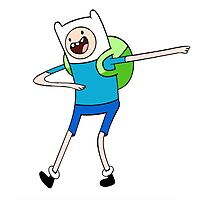 adventure time finn DAB Photographic Print