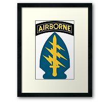 Army Special Forces Airborne (sleeve insignia) Framed Print