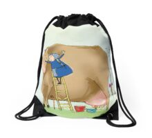 Beloved Cow Drawstring Bag