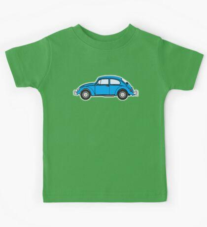 VW, Beetle, Bug, Volkswagen, Motor, Car, BLUE Kids Tee