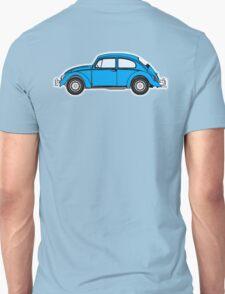 Beetle, Bug, VW, Volkswagen, Motor, Car, BLUE Unisex T-Shirt